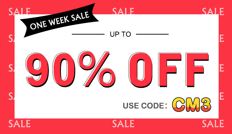 One Week Sale: Up to 90% off!
