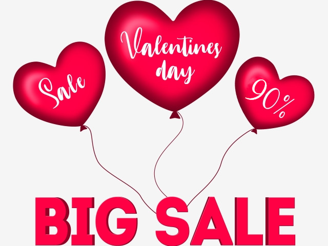 Big Sale Of Valentine's Day.