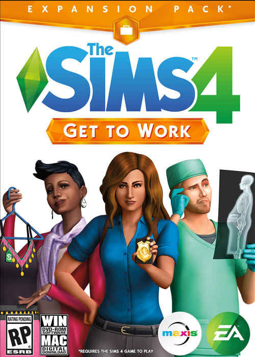 The Sims 4 Get To Work Origin CD Key