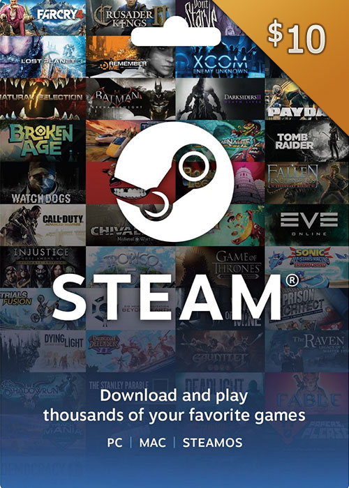 Steam Gift Card 10 USD