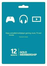 Official Xbox Live 12 Months Gold Membership Card Global