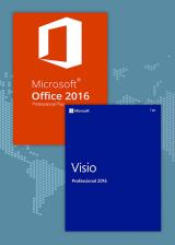 Official Office2016 Professional Plus + Visio Professional 2016  CD Key Pack