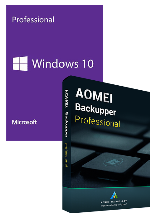 Windows10 PRO OEM+AOMEI Backupper Professional 5.7 Key Global