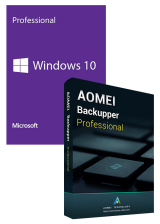 Official Windows10 PRO OEM+AOMEI Backupper Professional 365 Days 5.6 Edition Key Global