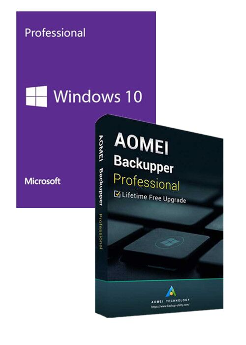 Windows10 PRO OEM+AOMEI Backupper Professional + Free Lifetime Upgrades 5.7 Edition Key Global