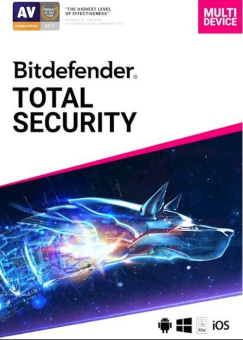 Bitdefender Total Security 5 PC 3 Year Key Global