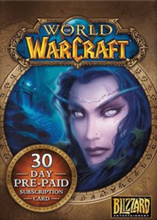 World of Warcraft 30 Days Time Card NORTH AMERICA