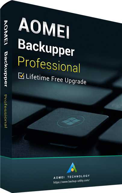 AOMEI Backupper Professional + Free Lifetime Upgrades Key Global