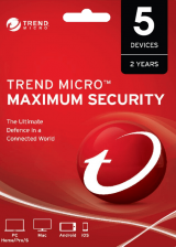 Official Trend Micro Maximum Security 5 PC 2 Years Key Global